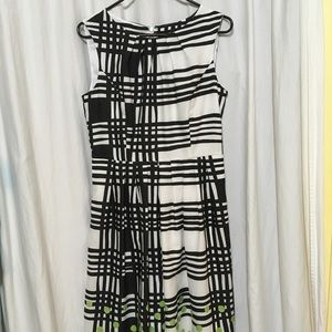 Ellen Tracy Dress, black & white plaid, size 6